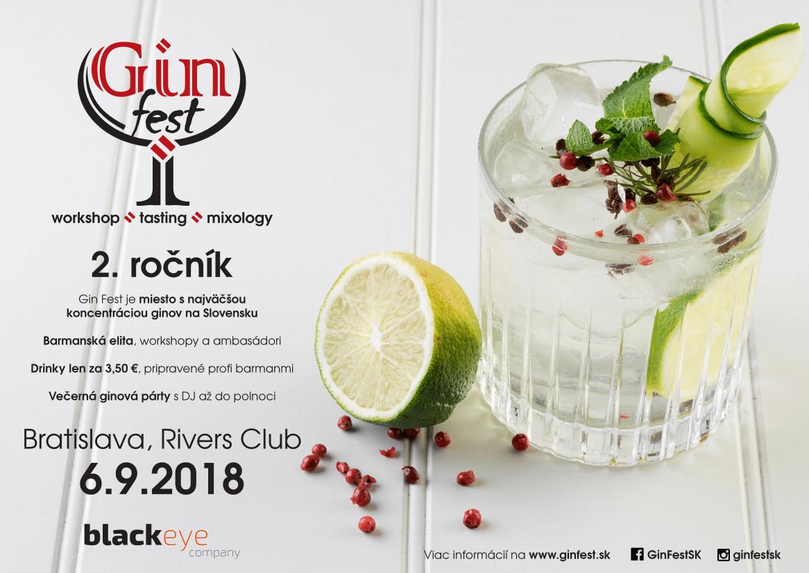 GIN FEST 2018: Stretnutie fanúšikov kvalitného ginu